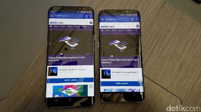 Galaxy S8 dan S8+ (Foto: Fino Yurio Kristo/detikINET)