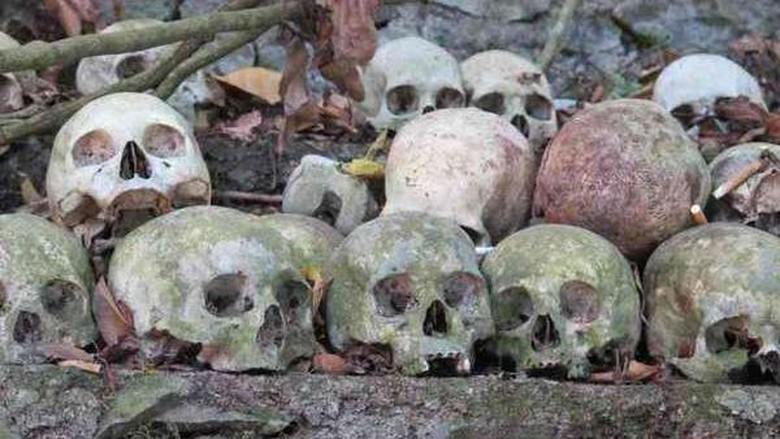Tengkorak manusia di Kuburan Trunyan (Sastri/detikTravel)
