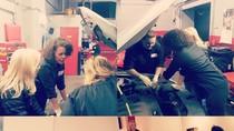 Di Bengkel Khusus Wanita Ini, Bisa Servis Mobil Sekaligus Manicure & Pedicure