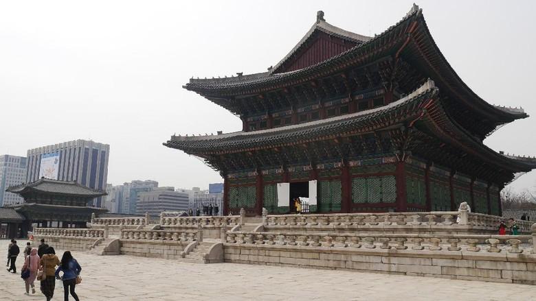 Foto: Istana Gyeongbokgung di Seoul (Kurnia/detikTravel)