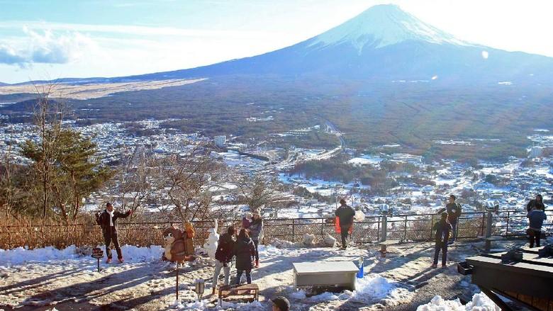 Ilustrasi Gunung Fuji (Randy/detikTravel)
