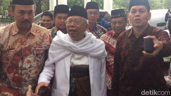Ketum MUI Maruf Amin Kembali Datangi Istana