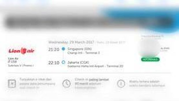 Beli Tiket Lion Air dari Changi Malah Ditransfer ke Johor Bahru