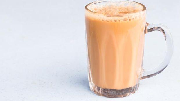 Tea with milk or popularly known as Teh Tarik in Malaysia