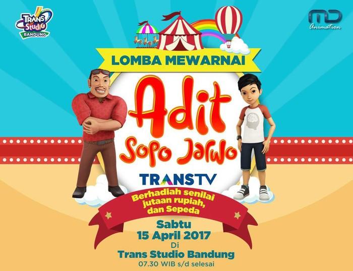 Lomba Mewarnai Adit Sopo Jarwo Di Trans Studio Bandung