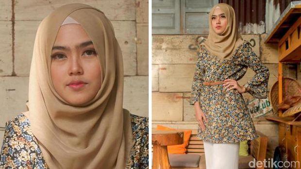 Foto Manisnya 6 Peserta Sunsilk Hijab Hunt Berbusana Motif Bunga