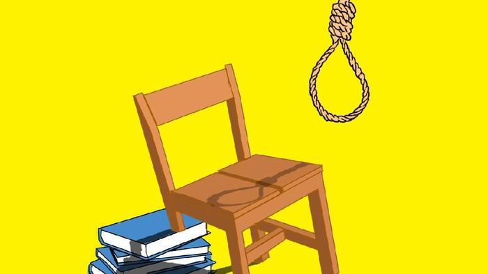 ilustrasi kolom tentang fenomena bunuh diri