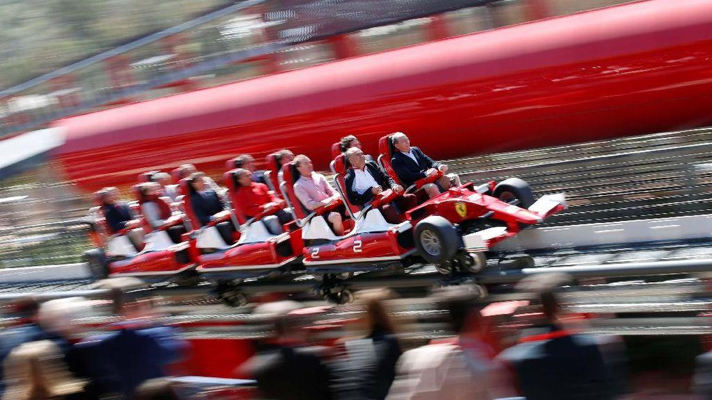 Bagai Menaiki F1, Roller Coaster Tercepat Ada di Ferrari Land Spanyol