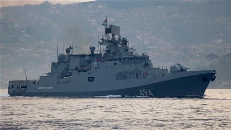 Rusia Kerahkan Kapal Perang Usai Serangan Rudal AS ke Suriah
