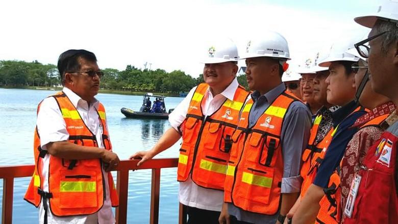 Wapres JK Tinjau Pembangunan LRT dan JSC di Palembang