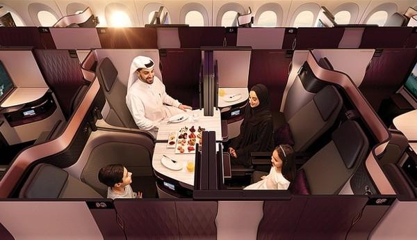 Qatar Airways. Maskapai ini terpilih sebagai Best Catering dan Best Business Class. (Qatar Airways)