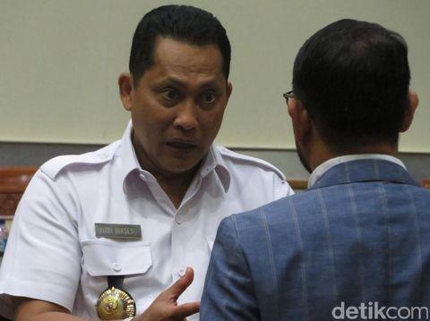 Kepala BNN Komjen Budi Waseso di DPR, Selasa (11/4/2017)
