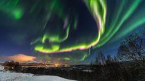 Cantiknya Langit Finlandia Dihiasi Aurora Borealis