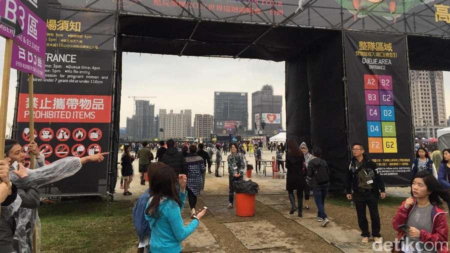 Begini Suasana Coldplay di Taiwan