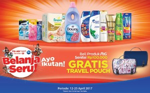Beli Produk P&G, Gratis Travel Pouch Transmart Carrefour