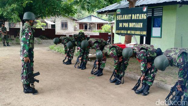 Derap Tentara di Motaain, Tapal Batas RI-Timor Leste