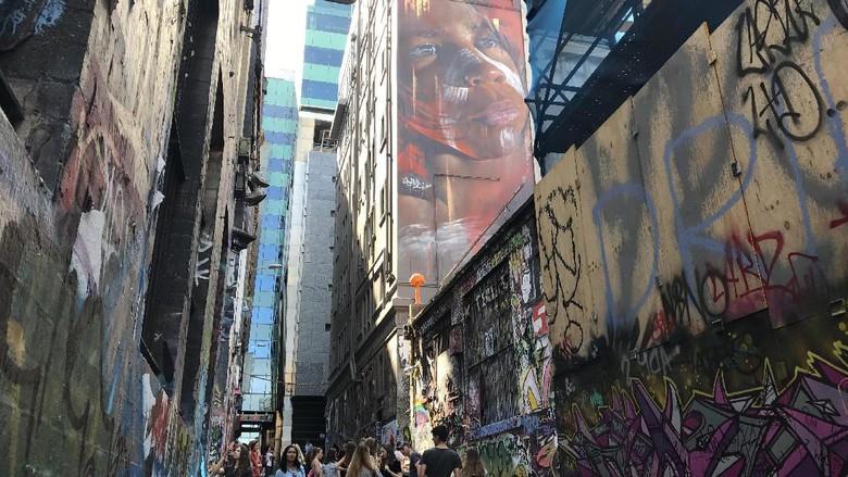 Ilustrasi sebuah gang Instagramable di Melbourne, Australia (Foto: Istimewa/Kautsar Rayzaman Wiharto)