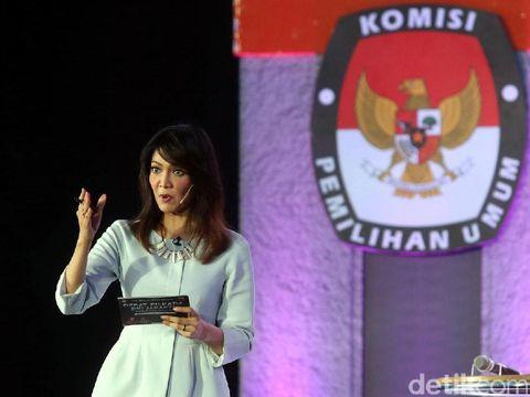 Ira Koesno di debat Pilkada DKI 2017.