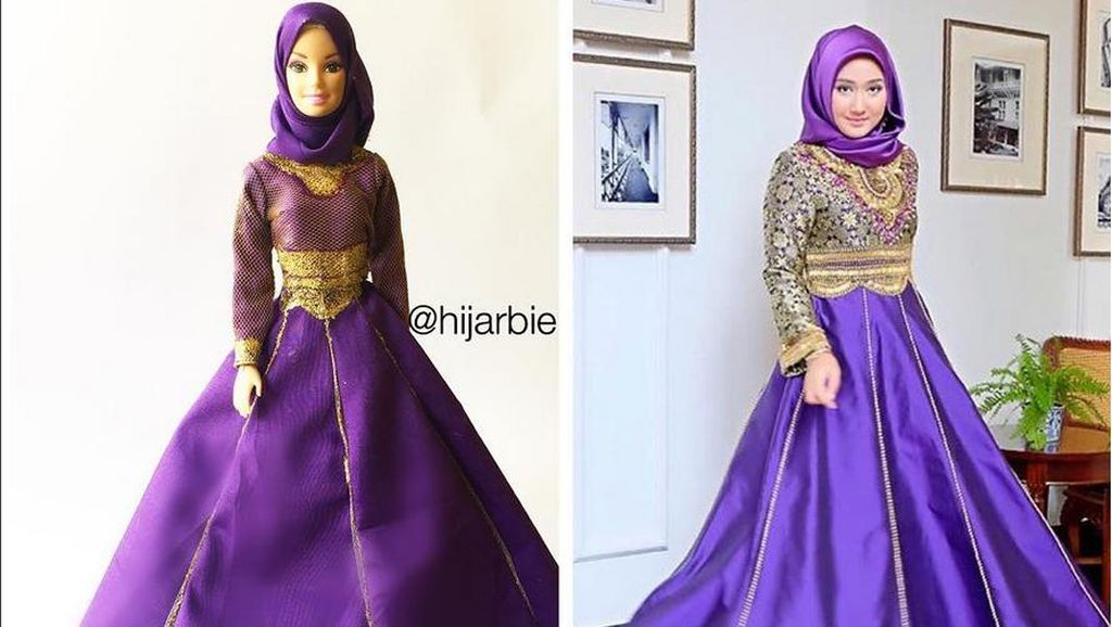Foto: Ketika Dian Pelangi Disulap Jadi Barbie oleh Hijabers Nigeria