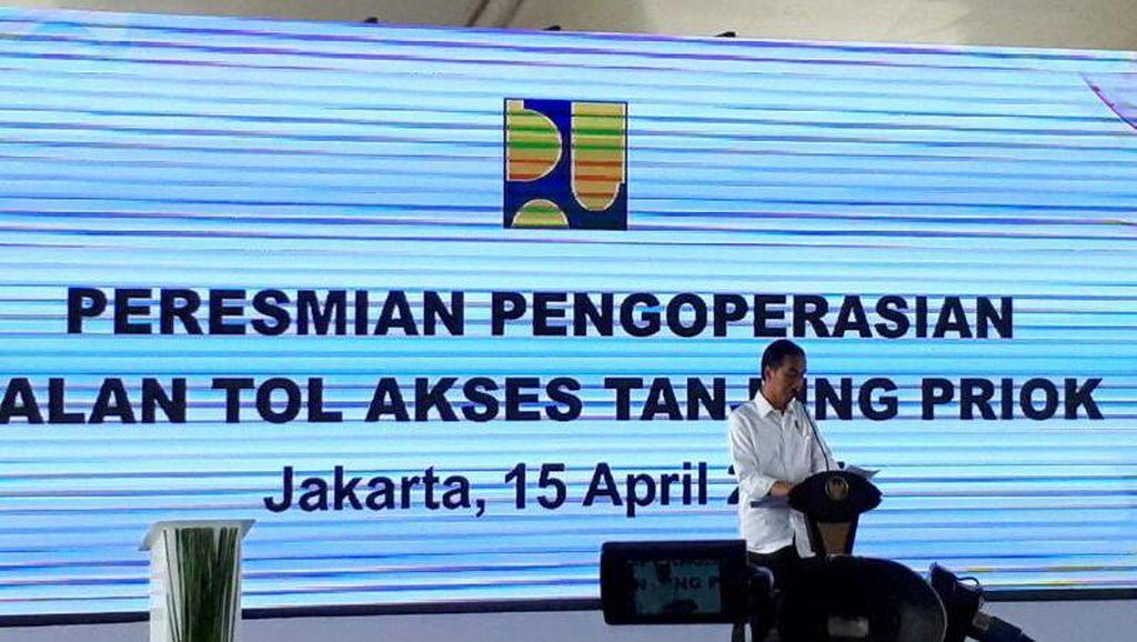 Tol Akses Tanjung Priok Resmi Dibuka Jokowi