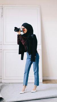 Foto 4 Model Celana Jeans Yang Tren Dipakai Selebgram Hijab