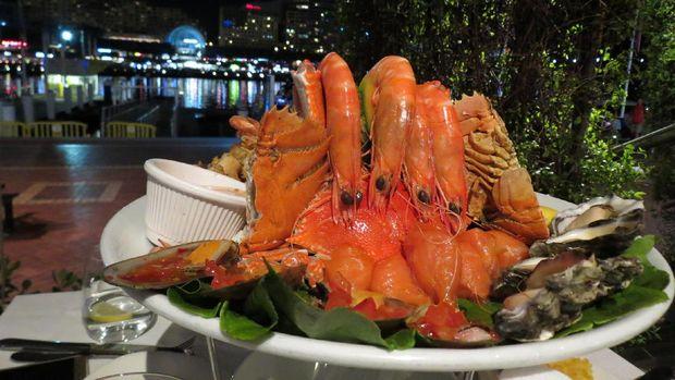 Seafood platter dari Restoran Nick's yang patut dicoba (Fitraya/detikTravel)