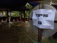 TPS Cibeber tempat Agus mencoblos.