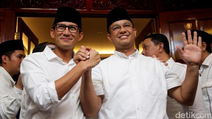 Sejumlah lembaga survei hampir merampungkan proses hitung cepat. Dari sejumlah hasil hitung cepat tersebut, pasangan Anies Baswedan-Sandiaga Salahuddin Uno terlihat unggul.