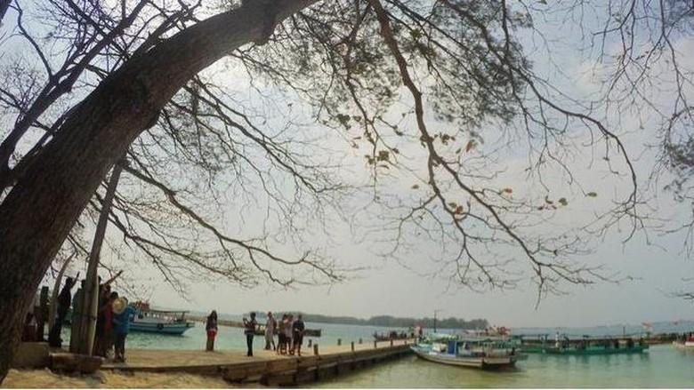 Pulau Bulat di Kepulauan Seribu (Kurnia/detikcom)