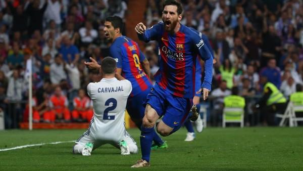 Sengit, Barca Kalahkan 10 Pemain Madrid di Bernabeu