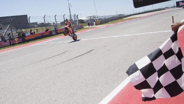 Setelah dua race awal yang tak menyenangkan, Marc Marquez meraih kemenangan pertamanya musim ini di MotoGP AS di Austin (Getty Images Sport)