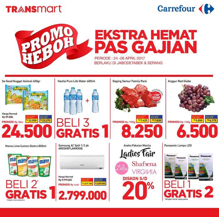 Ekstra Hemat Pas Gajian Dengan Promo Heboh Transmart Carrefour