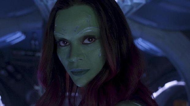 Zoe Saldana sebagai 'Gamora' di 'Guardians of the Galaxy'.