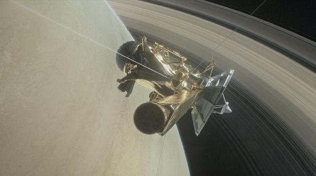 Ilustrasi pesawat luar angkasa Cassini