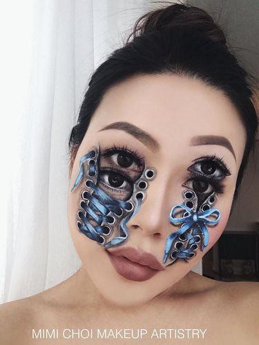 Foto Mengerikan Makeup Artist Rias Wajah Jadi Terbelah Hingga Bermata 4