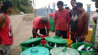 Ikan-ikan hasil tangkapan yang akan dibawa ke pasar
