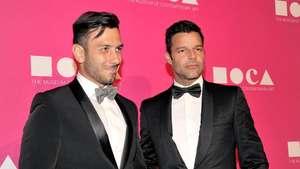 Ricky Martin dan Pasangan Prianya Tampil Necis