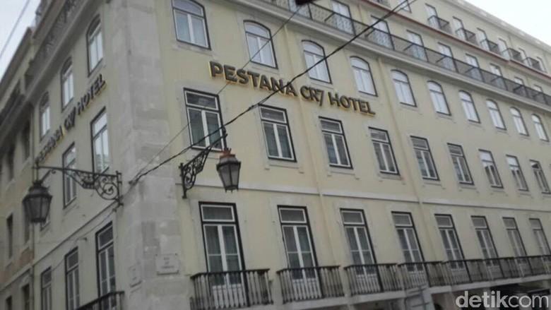 Foto: Pestana CR7 Hotel yang jadi incaran turis berfoto-foto di Lisbon (Elza Astari/detikTravel)