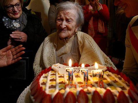 Emma saat ulang tahun di usia 117 tahun.