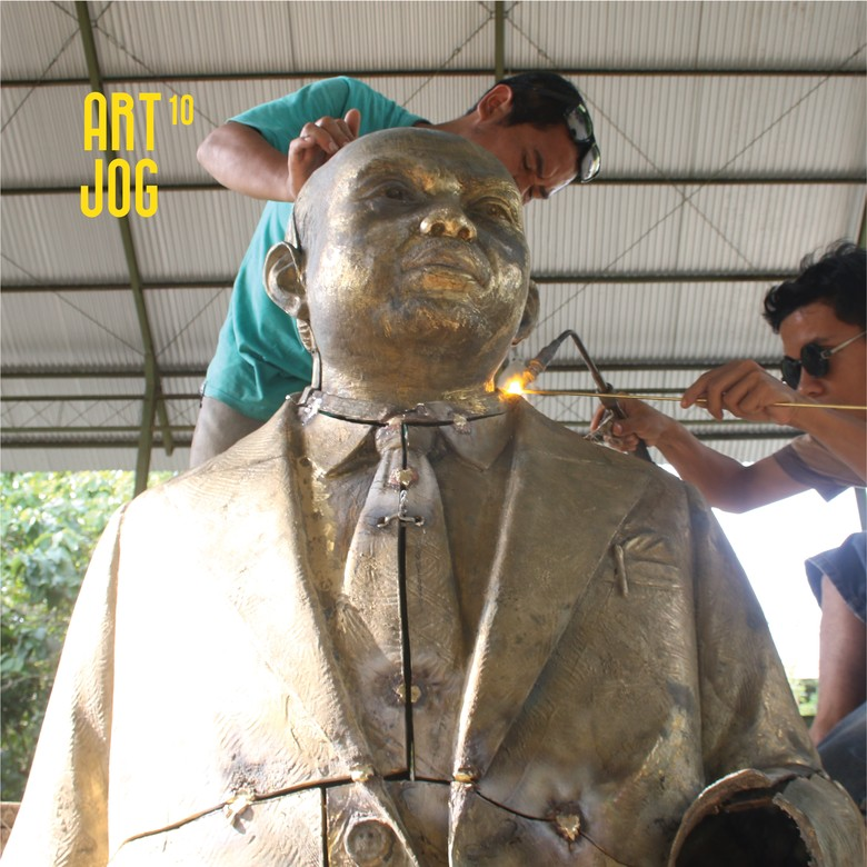 Beri Penghargaan, ART JOG Dirikan Patung RJ Katamsi