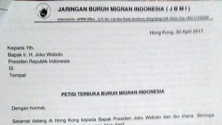 6 Poin Petisi Buruh Migran RI untuk Jokowi