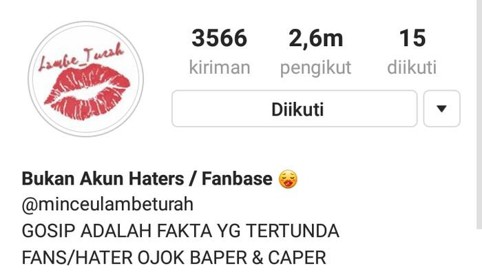 Ilustrasi: screenshot Instagram lambe_turah