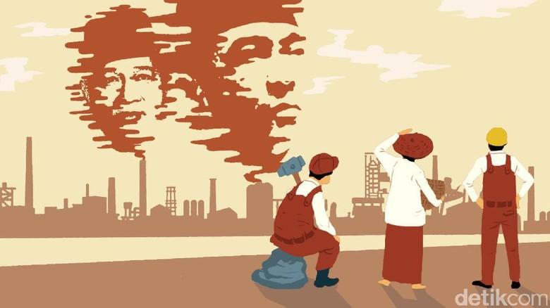Beda Sukarno dan Soeharto Sikapi Hari Buruh