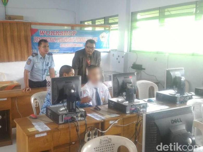 Siswa SMP Napi Kasus Pencurian Senang Bisa Ikut UNBK