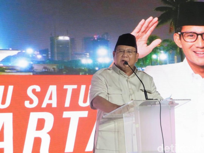 Cerita Prabowo yang Was-was Anies-Sandi Menangkan Pilgub DKI