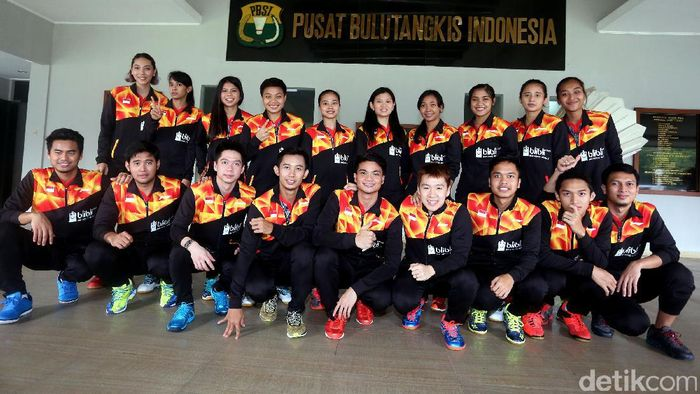 Skuat Indonesia ke Piala Sudirman 2017 (Foto: Rengga Sancaya/detikSport)