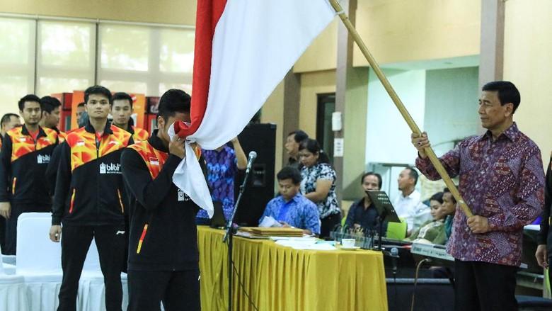 Tim Bulutangkis Indonesia Jalani Latihan Perdana