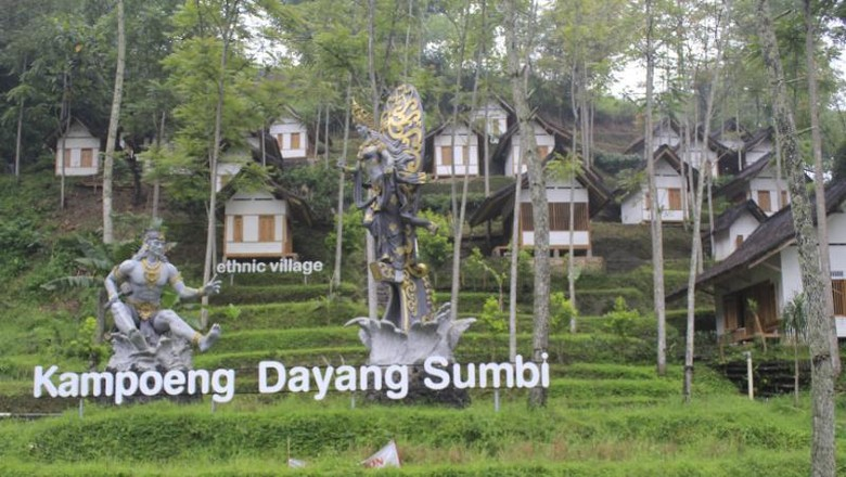 Kampung Dayang Sumbi di Dago Creative Park, Bandung (Wisma Putra/detikTravel)