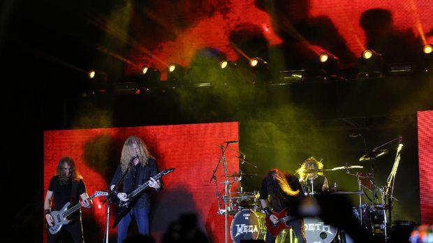 Aksi Megadeth di Hammersonic 2017.