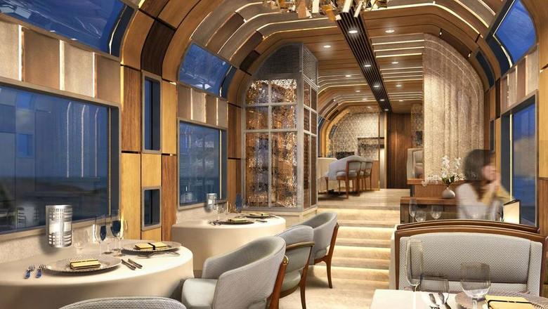 Desain Ruang Tamu Super Mewah kereta super mewah dari jepang seperti hotel